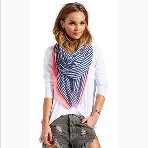 🧣 Gorjana striped neon scarf
